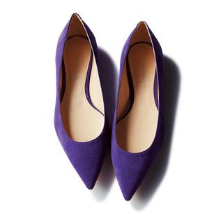 【Pointed Toe Flat】低ヒールでも美脚。 爪先の本領