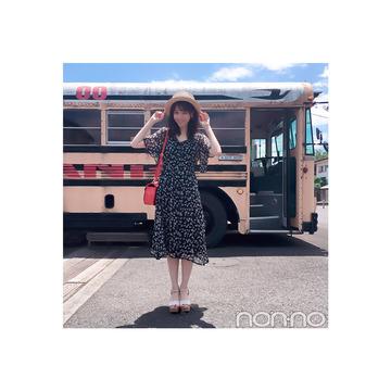 西野七瀬は花柄ワンピを夏小物で盛り上げ!【毎日コーデ】
