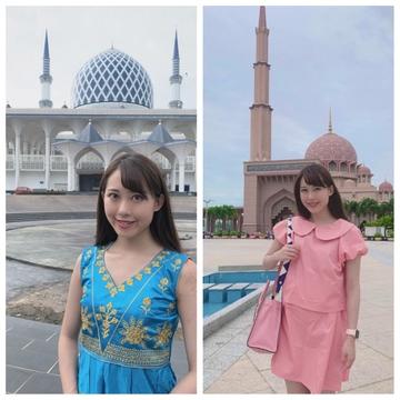 映え女子旅♡ピンクとブルーのマスク in マレーシア