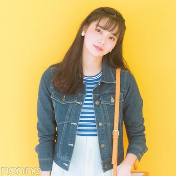 新川優愛が着る、ビーラディエンスのきれいめショートGジャンに注目!