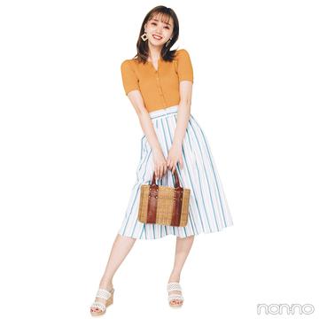 今日はオレンジトップスが主役!男女両モテ♡ チアフルな夏コーデ【毎日コーデ】