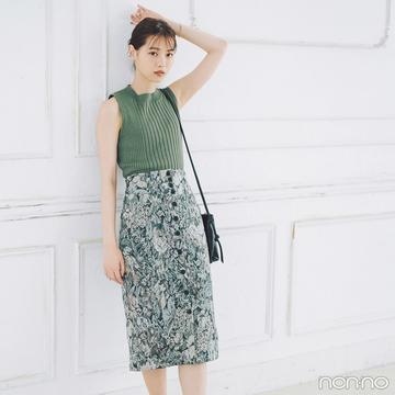 西野七瀬はリッチなゴブランスカートで秋トレンドを先取り!【毎日コーデ】
