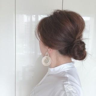 くせ毛と白髪をごまかすふんわりまとめ髪【40代ヘアスタイル】