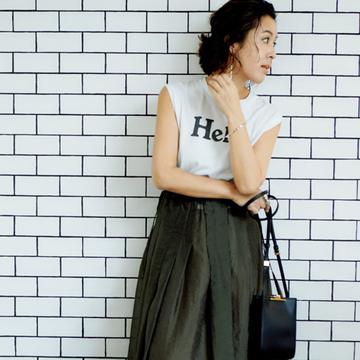 【新「大草直子メソッド」で夏おしゃれ】大人の救世主!ロゴTシャツ×女神スカート