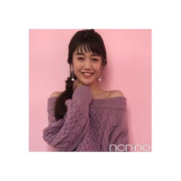 松川菜々花のピンク×デニムのカジュアルヘルシーコーデ【毎日コーデ】