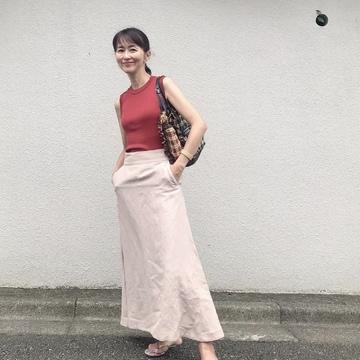ヴィムガゼットのリネンフレアスカート♡
