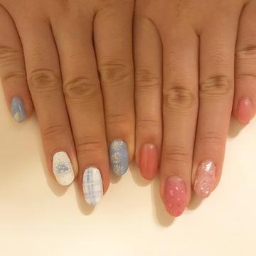 【今流行りの アシメネイル】5月のNew nail紹介いたします♡♡