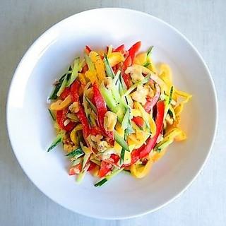 完熟野菜で作ってほしい、彩り鮮やかパプリカサラダレシピ