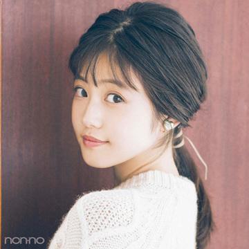 今田美桜さんが実践♡清潔感&可愛いを両立するバイトの日のローポニー【ニット×ヘアアレンジ】