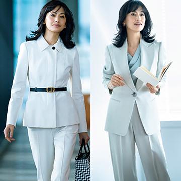 【白&ブライトカラーのスーツ5選】リュクスに着映える春スーツでビジネスに品格と華やかさを