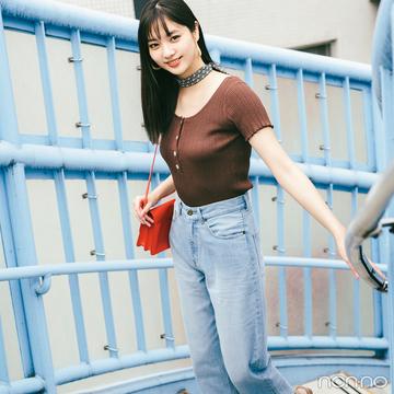 新川優愛はチョコ色ピタニットでいい女コーデ♡【毎日コーデ】