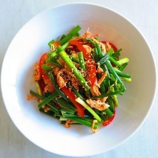 もちもち美肌も夢じゃない!ネギと鶏肉の韓国風サラダレシピ