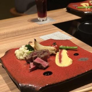 神楽坂で肉会席