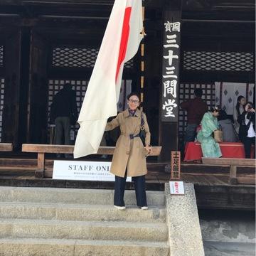 お気に入りのトレンチコートで京都へ♪