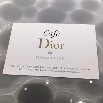 話題のディオールカフェへ♪