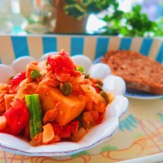 ぎっしり栄養の宝庫・高野豆腐のトマト煮