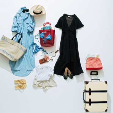 ハイセンスなリラックススタイルで過ごす、リゾート旅【スーツケースの中身】