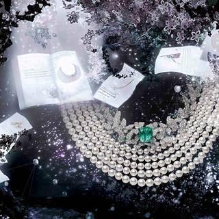 ミキモトの新作ハイジュエリーが「FLOWERS by NAKED」のアート演出で彩られた会場で一般公開