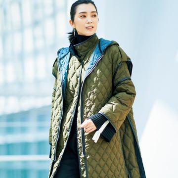【洗練キルティングコート】デザインがあか抜けた!50代に似合うキルティングコート3選