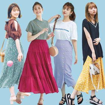 夏服のマンネリ、色使いで新鮮に見せられる! 神配色コーデまとめ8選