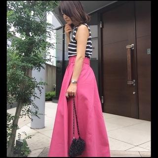 気持ちも華やぐ?40代のピンクスカート♡