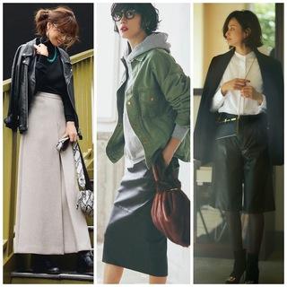 冬のレザーが女っぷりをあげる!レザーアイテムのコーディネートまとめ|40代の冬トレンドファッション