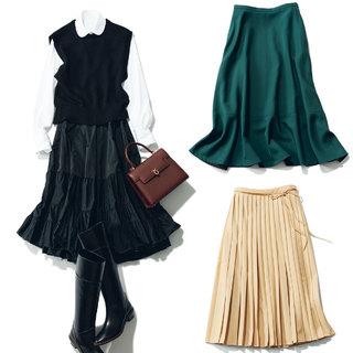 スカートはやや短めな「ミディ丈」が復活!【アラフォーのための2021秋ファッショントレンド】