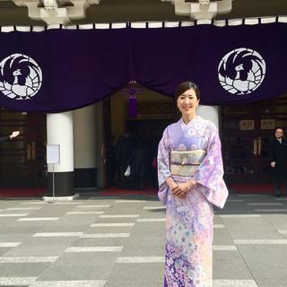 着物で歌舞伎鑑賞へ