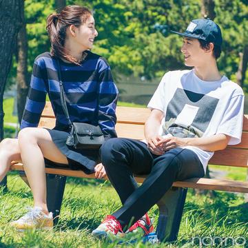 吉沢亮X新木優子が理想♡ NIKEのスニーカーで公園デート