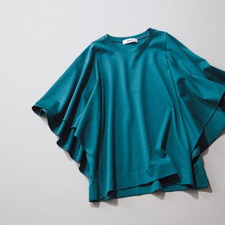 袖のニュアンスできれい見えを実現「ドルマンTシャツ」【アラフォーのための厳選「リモートトップス」】