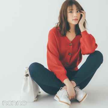 貴島明日香の赤×白×ネイビーがお手本! 好感度&おしゃれ感どっちも♡