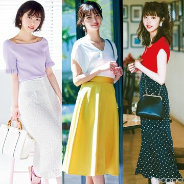 夏のロングスカートコーデ25選★non-no Webのおすすめスタイルまとめ!