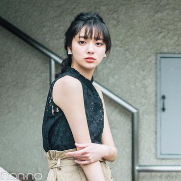 夏の注目新作★黒のレーストップスはこう着回す! 新川優愛がお手本♡