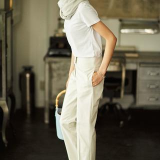 ◎アイデア1:全身ワントーンで着る