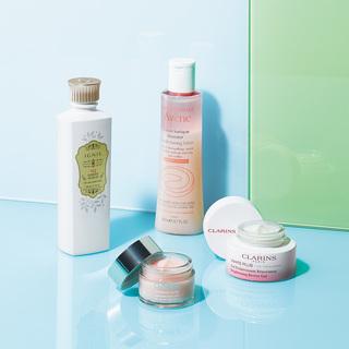 夏の保湿。いつもの化粧水と乳液、クリームをライトな質感にチェンジ!