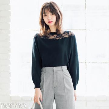 江野沢愛美が部分透けニットを5通りに着回し! 20歳からの大人っぽコーデ★