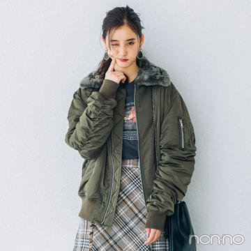 新木優子はミリタリーカーキをほんのり甘く♡ 4コーデを一気見!【今日のコーデはブラウン以外】