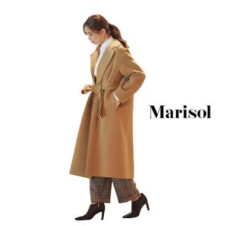 男前パンツコーデも女性らしいヒール&ロング丈コートでエレガントに【2020/1/31コーデ】