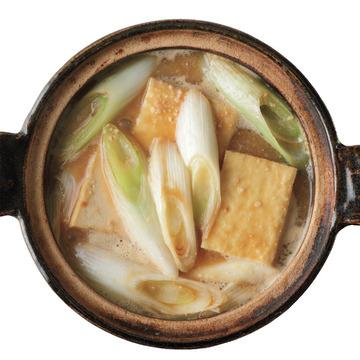 4.厚揚げと長ねぎの鍋