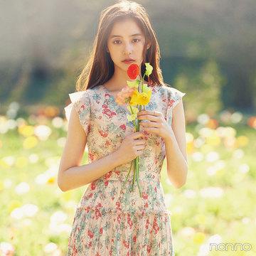 7・8月合併号で優子もロケに♡ 国営武蔵丘陵森林公園の幻想的な花畑に癒されて