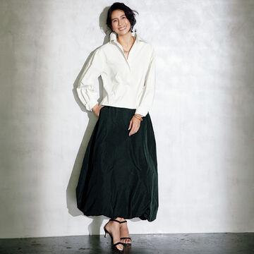 大人のロマンチックスタイルを完成!「地曳いく子×éclat」のブラウス&スカート