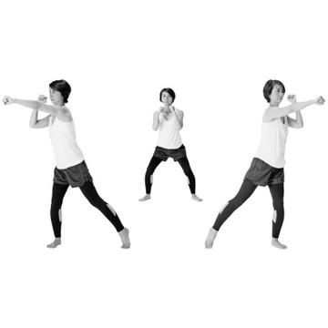 有酸素運動&ストレッチの合わせ技で最短ヤセを目ざす!【簡単スクワット】
