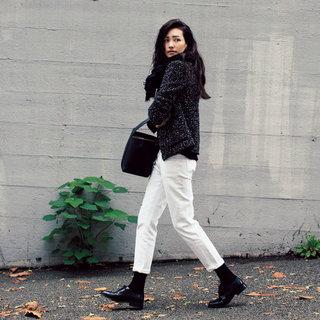 この冬、白デニムを素敵に着こなすためのコーディネートヒント