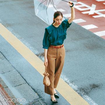 新木優子×新しいこと始まる秋服。「ボウタイとフリルが外せない」