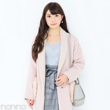 甘すぎないピンクの上品コート、しかもトレンドのファーつき…あるんです!