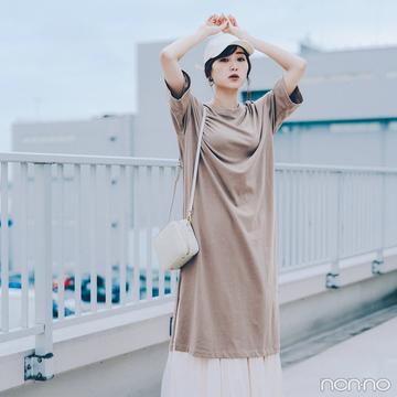 Tシャツワンピは優しげ配色で大人可愛くコーディネイト♡【毎日コーデ】