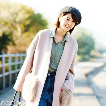 西野七瀬がギンガムチェックのシャツを今→春3段活用着回し!