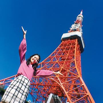 スマホレンズの広角でインスタ映え★東京タワーがてっぺんまで入る!【non-no 5月号付録】
