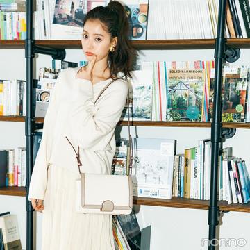 新木優子は白でまとめた軽やかワントーンコーデ【毎日コーデ】