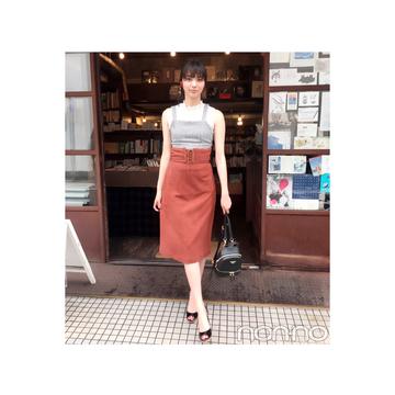 新川優愛は秋色スカート×ビスチェで最旬コーデにトライ♡【毎日コーデ】
